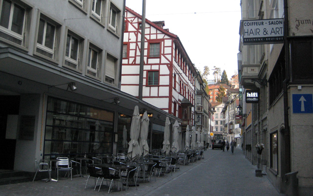 Sleepy St. Gallen on Sunday
